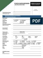 Job Application Form (JAF)