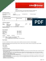 Lion Air ETicket (SOMGBK) - Jumawal