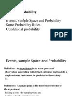 Recap on Probability