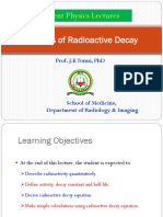 Lecture 5 Kinetics of Radioactive Decay