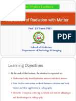 Lecture 6a Interaction of Radiation With Matter