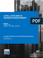 LSIB Level 3 Business and Management Specification