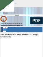 Paul Tessier (1917-2008). Padre de la Cirugía Craneofacial