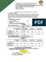 INFORME 02 (Condensadores en Serie y Paralelo