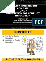 Conflict Management - Topic 4