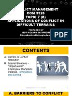 Conflict Management - Topic 7b