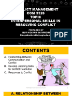 Conflict Management - Topic 3