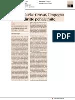 Carlo Federico Grosso, l'impegno per un diritto penale mite - Il Sole24ore del 25 luglio 2019