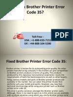 How to Fix Brother Printer Error Code 35
