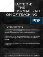 Chapter 4 Teaching Profession
