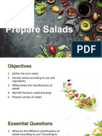 Classifications of Salads