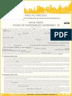 VRTA - Aviso Ao Mercado - 5-07-2019