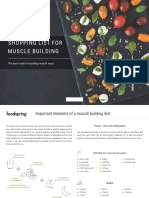 Shopping List for Muscle Building by Foodspring