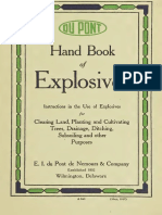 Hand Book of Explosives; Instructions in the Use of Explosives for Clearing Land
