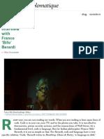 An Interview With Franco 'Bifo' Berardi