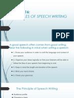 The Principle of Speech Writing