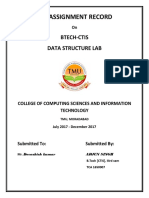 LAB ASSIGNMENT RECORD of DSA.docx