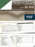 Sharp EL 512