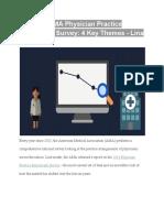 The 2018 AMA Physician Practice Benchmark Survey 4 Key Themes - Lina