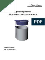 Cryotherm LN2-Sample-storage Biosafe Manual