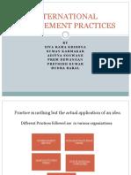 International Management Practices