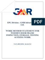 4-Method statement for Door frame fixing, inspection, storage and test 1- Copy1.docx