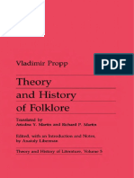 Propp Vladimir Theory and History of Folklore