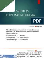 Material Fundamentos de Hidrometalurgia