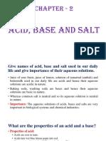 Ch-2 Acid Base and Salt