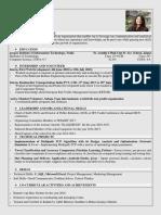 Sample CV Juhi Joshi