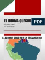 El Idioma Quechua