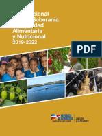 Plan Nacional Para La Soberania y Seguridad Alimentaria y Nutricional 2019-2022 Ministerio de La Presidencia Republica Dominicana Octubre 2018
