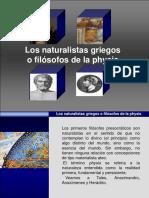 Los naturalistas griegos
