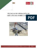 Técnicas de Operación de Grúa Pluma Sobre Camión