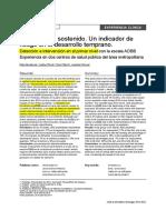 2014 Nahir Detección e intervención en el primer nivel con la escala ADBB Experiencia en dos centros de salud pública del área metropolitana