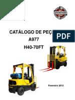 Manual empilhadeiras hyster H40-H70