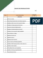 Room Checklist