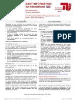 Applicant Information Bachelor International