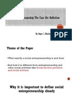 Social Entrepreneurship PPT