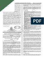 Gaceta Oficial 41693 BCV Estudios Tarjetas de Credito Debito