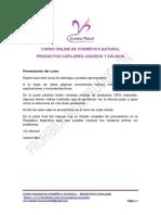 Curso Online de Cosmetica Natural Productos Capilares 2019