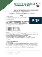 Bases Del Concurso de Ajedrez 2019