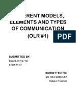 Different Models of Com