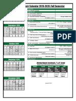choir calendar 2019-2020