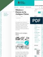 Música y Danza en La Antigua China