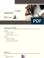 Language and Writing - Presentation