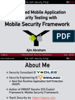 Automated Mobile Application Security Assessment With MobSF