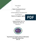OnlineExaminationProject Report