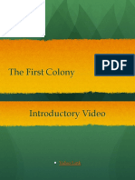 the first colony ppt