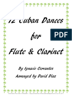 12 Cuban Dances for Flute and Clarinet